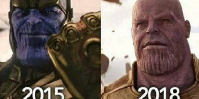 Thanos Color Changes in MCU
