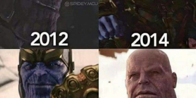 Thanos Costume Makeup Changes in MCU