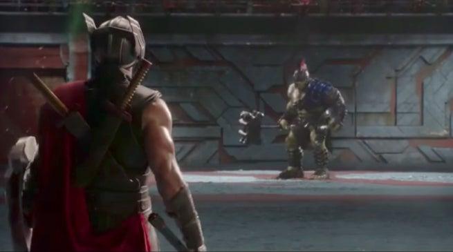 Thor Ragnarok Hulk vs Thor Fight Scene Clip