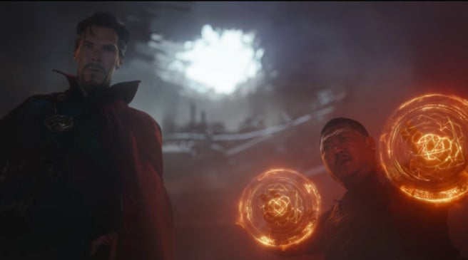 Avengers Infinity War Trailer Characters - Doctor Strange and Wong