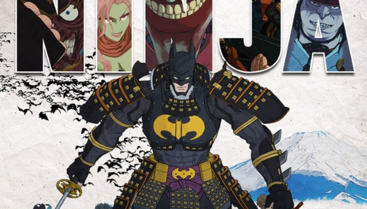 batman ninja poster reveals a number of classic heroes and villains