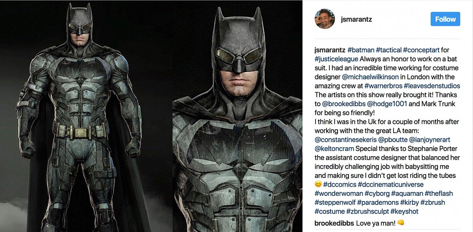 Batman Tactical Suit Concept Art Justice League