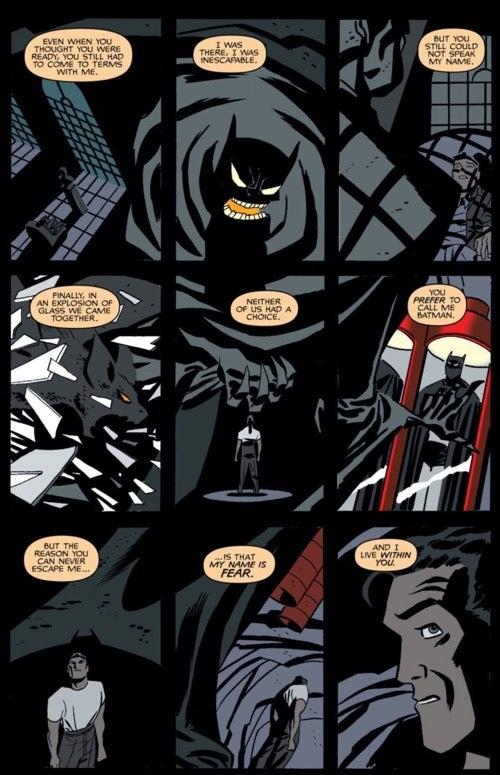 Batman Ego nine panel grid example by Darwin Cooke