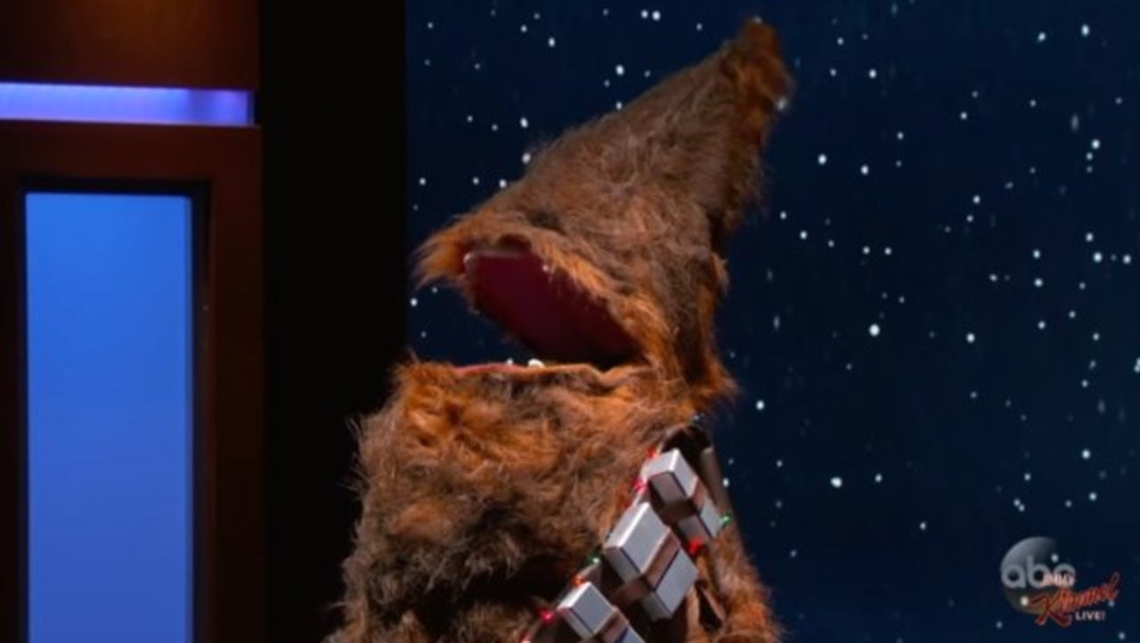 Star Wars\' Chewbacca Christmas Tree Unveiled on \'Jimmy Kimmel Live\'