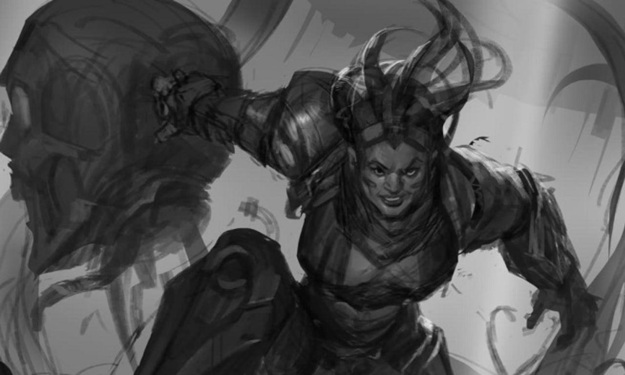 league of legends shares first look at battlecast illaoi development