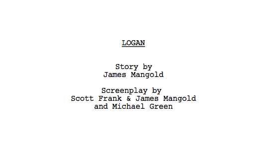 logan screenplay