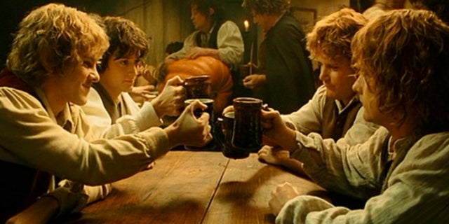lord of the rings hobbits toast