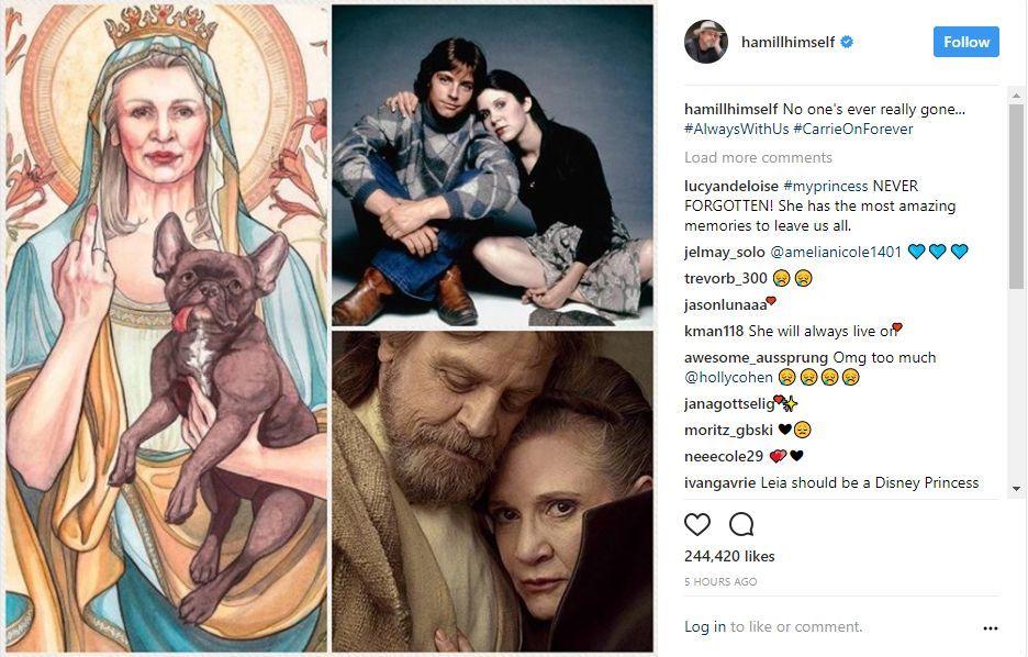 Mark Hamill Carrie Fisher Instagram