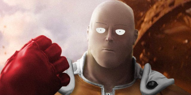 One-Punch Man as Thanos Avengers Ininfity War meme