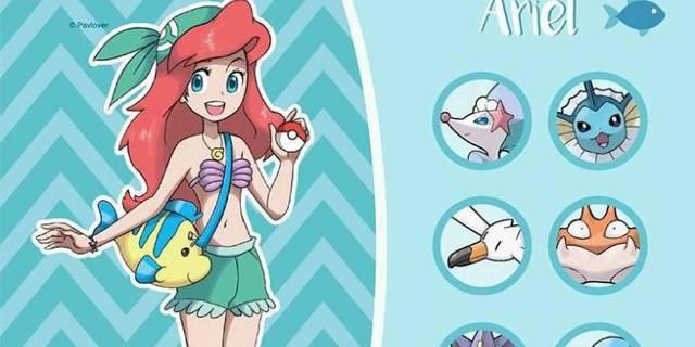 An Artist Reimagined Disney Princesses As Pokemon Trainers