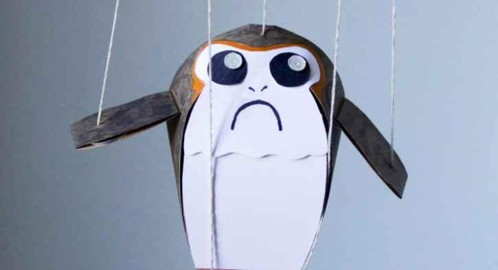 porg puppet craft