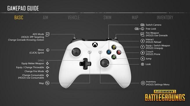 PUBG Xbox One Controls