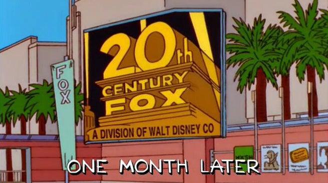 Simpsons Fox Disney Deal