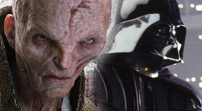 snoke vader star wars the last jedi