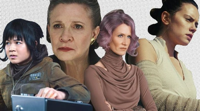 Star Wars Last Jedi Female Characters Heroes