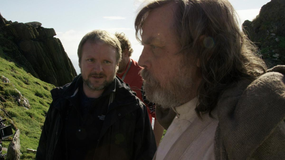 star wars the last jedi behind the scenes rian johnson mark hamill