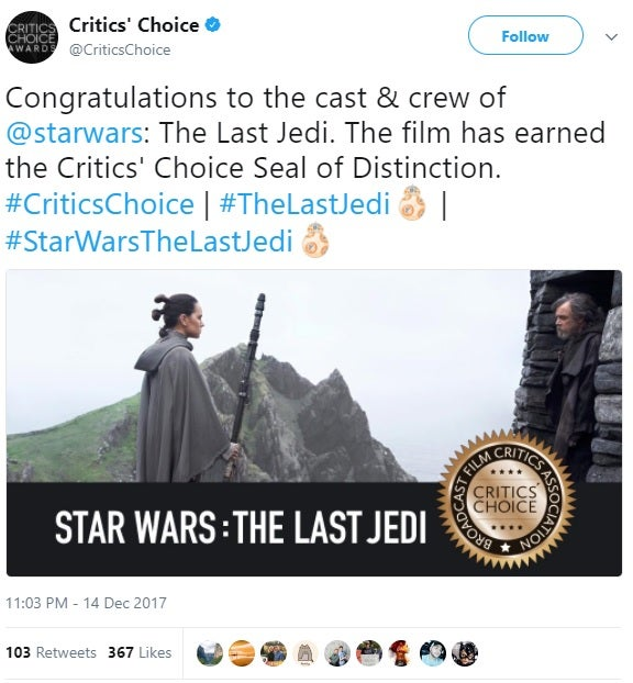 star wars the last jedi reviews critics