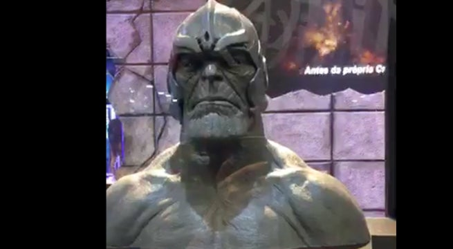 Thanos Sculpture Helmet Brazil Comic Con Experience 2017