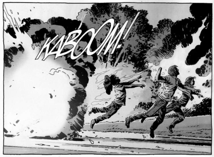 The Walking Dead Carl explosion