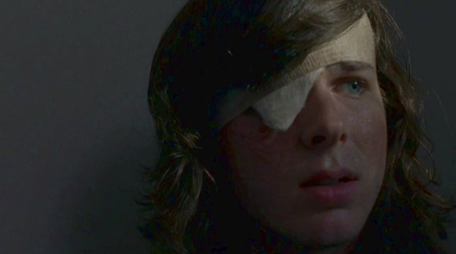 The Walking Dead Chandler Riggs Carl Death Reaction