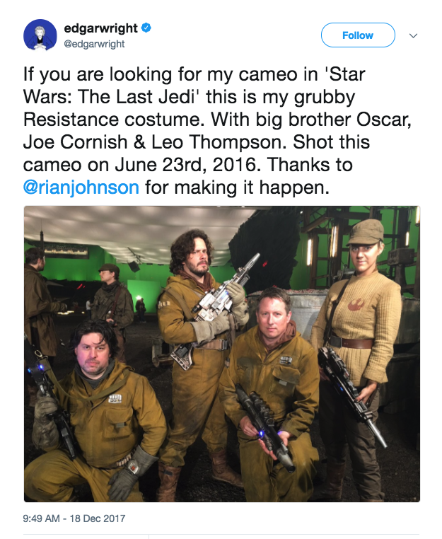 wright star wars cameo