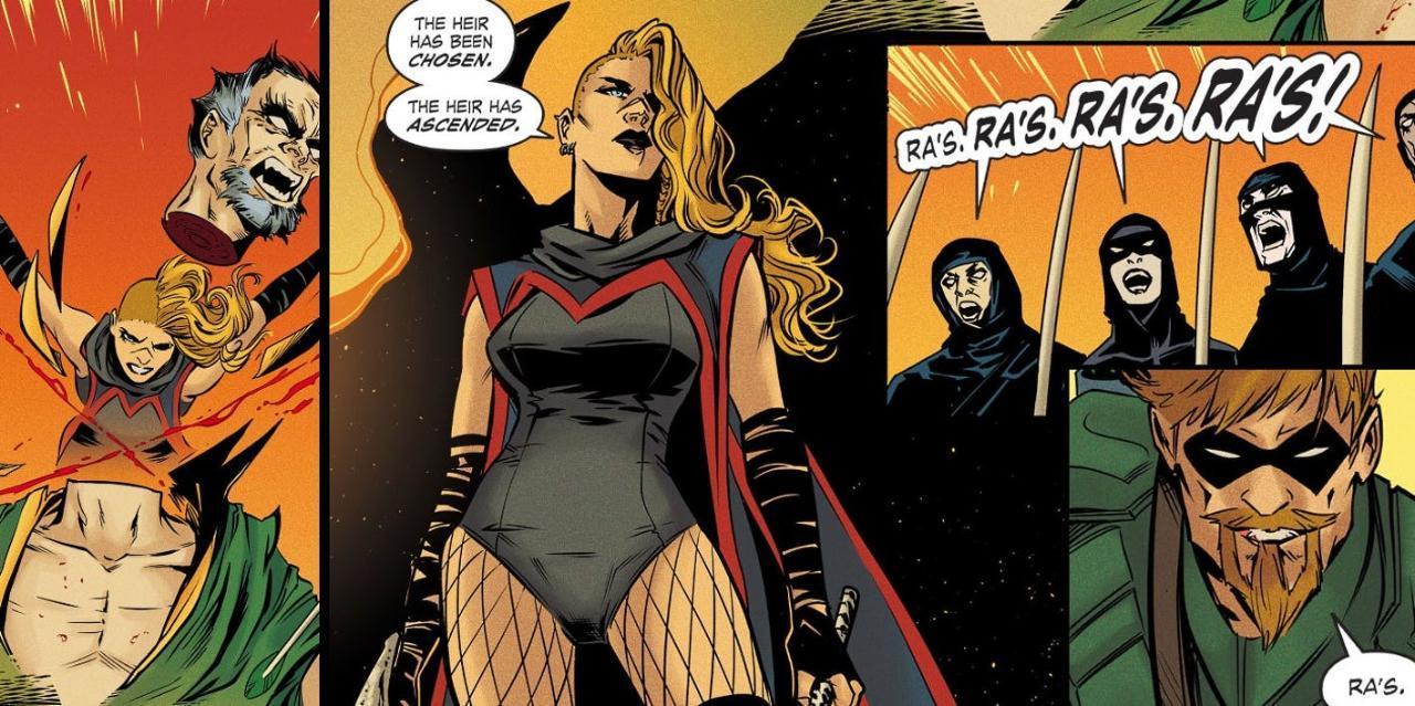 Black Canaray Kills Ra's al Ghul Gotha City Garage