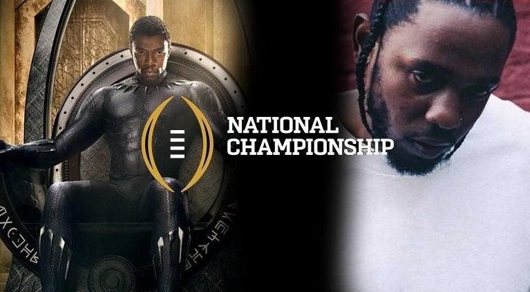 black-panther-sneak-peak-kendrick-lamar-halftime-college-football-national-championship