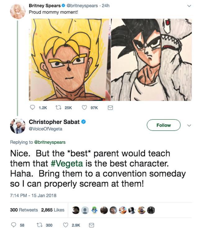 Christopher Sabat Responds Brittney Spears Dragon Ball Artwork