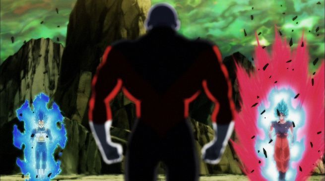 Dragon Ball Super 123 Goku SSB Kao-Ken Vegeta SSB2 vs Jiren