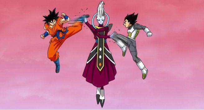 Goku Ultra Instinct Vegeta SSB2 Whis Connection
