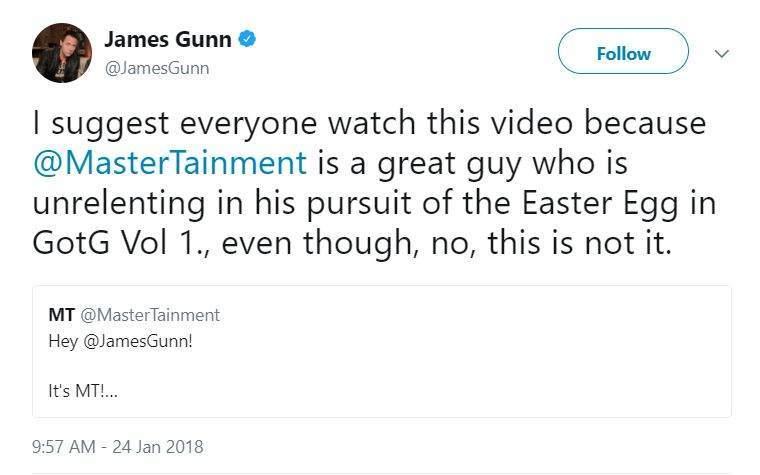 james gunn guardians easter egg