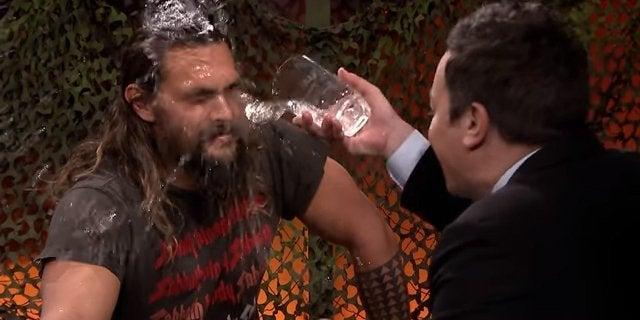 jason momoa jimmy fallon water war aquaman