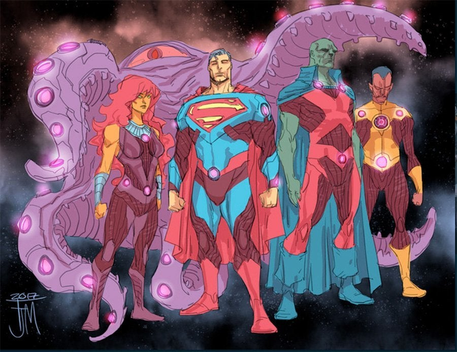 Justice-League-No-Justice-Costumes-Team-Mystery