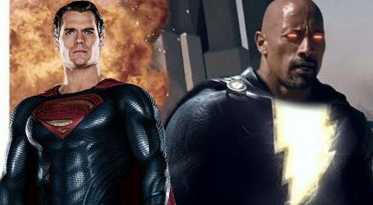 man of steel 2 fan trailer pits superman against the rock s black adam