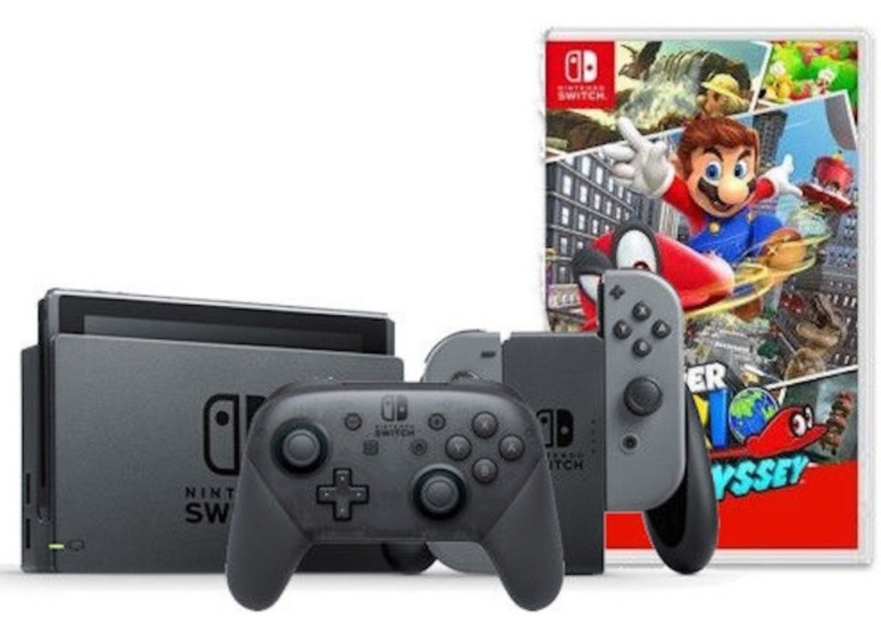 This Sweet Nintendo Switch Bundle Includes A Pro Controller And Splatoon 2 Edition Super Mario Odyssey