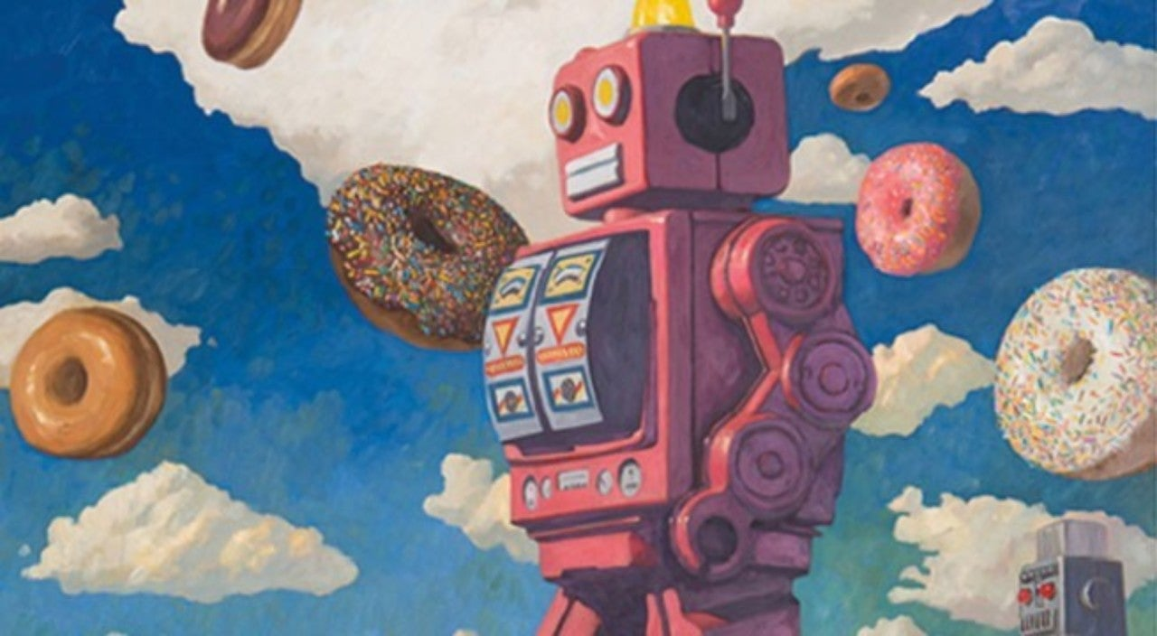 Exclusive Preview - Robots And Donuts Collide In Robotic Existentialism: The Art of Eric Joyner