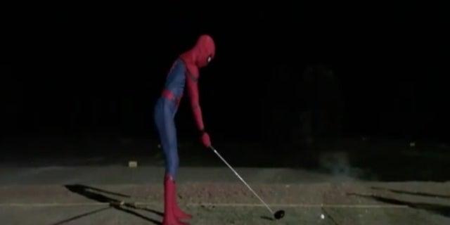SpiderMan Tom Holland golfing