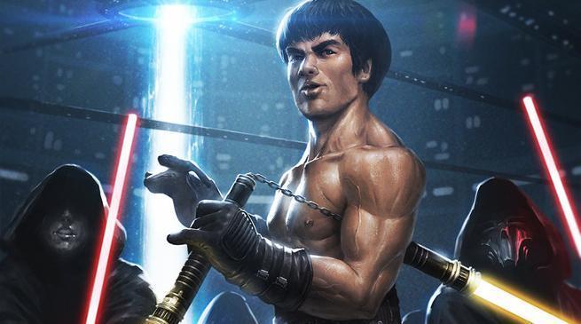 Star Wars Bruce Lee Lightsaber Nunchucks Mashup Video