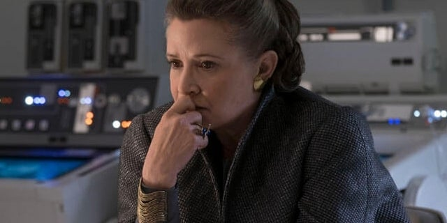 star wars last jedi leia organa carrie fisher