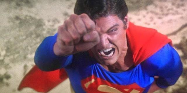 Superman The Movie New BTS Photo Christopher Reeve