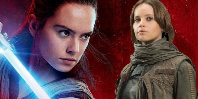 the last jedi rogue one rey jyn erso