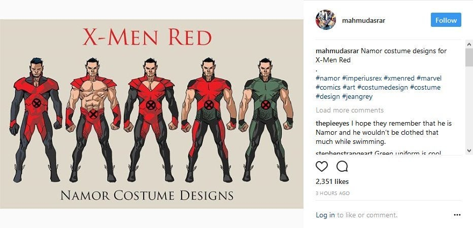 X-Men Red Namor Costumes