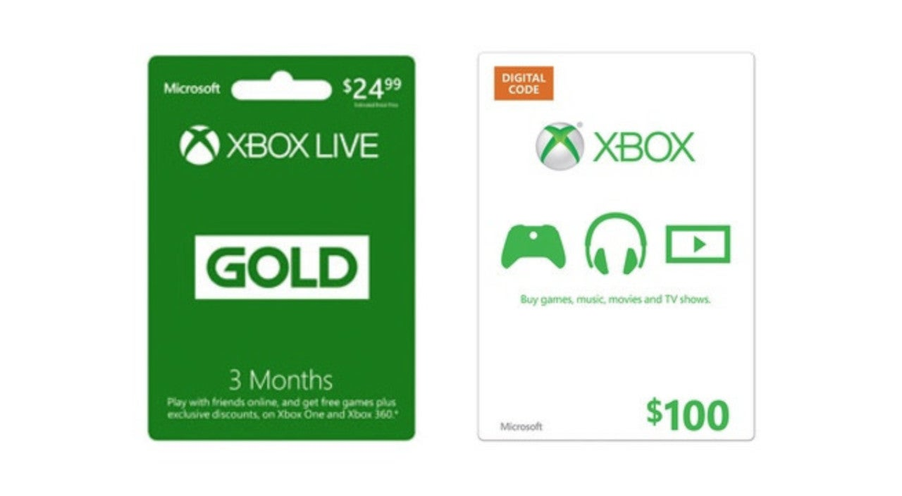 Save on Xbox Gift Cards and Live Memberships