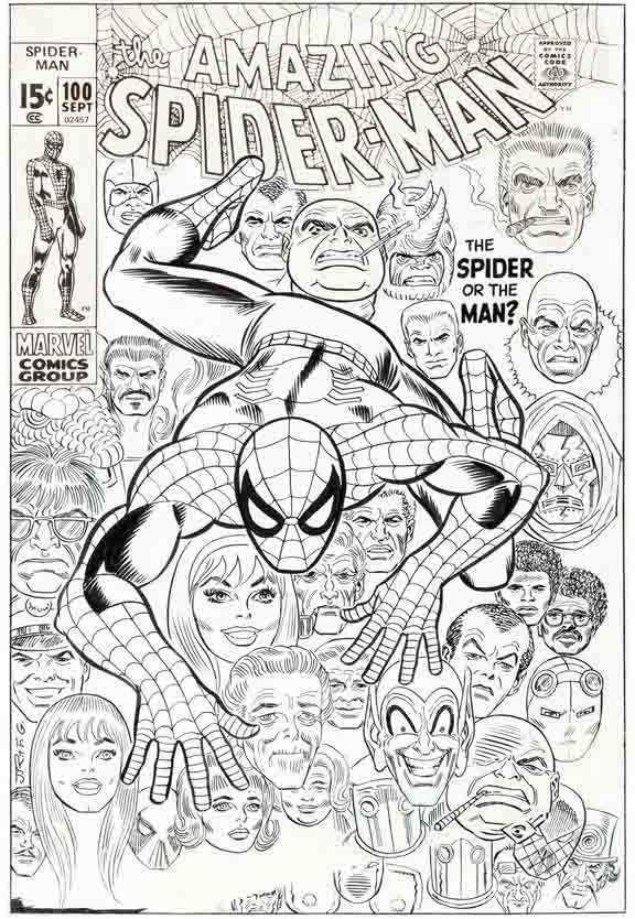 amazing spider man 100 cover