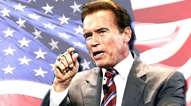 Arnold Schwarzenegger Kung Fury US President