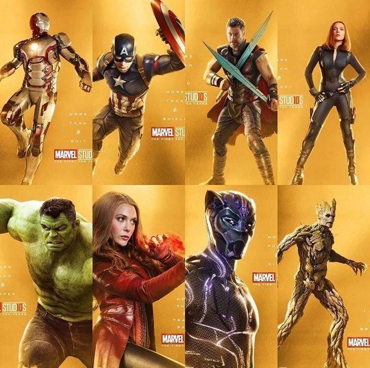 Avengers-Infinity-War-10-Anniversary-Posters