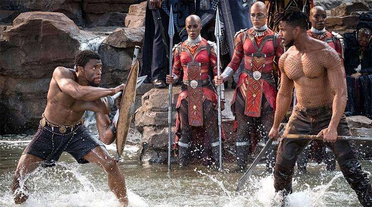 Black Panther T'Challa vs Killmonger rigual combat scene