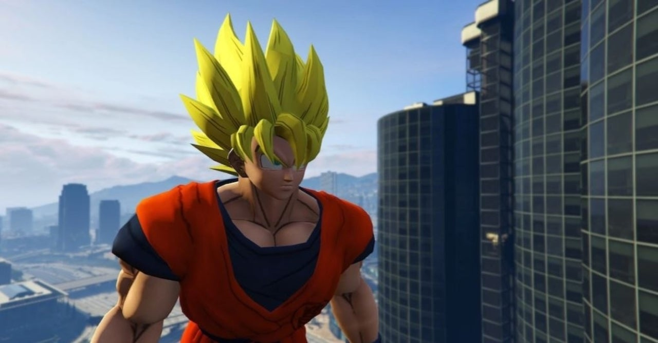 Grand Theft Auto V Mod Brings Goku From Dragon Ball Z into
