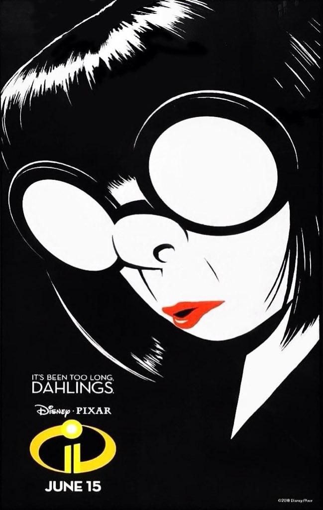 incredibles 2 edna poster