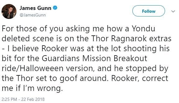 james gunn yondu thor ragnarok james gunn